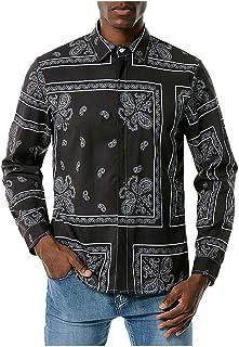 Camisetas Hombre Manga Corta Camisas Estampado de Anacardo de Tendencia Diaria Tallas Grande Camisas Elasticos Deporte Rop...