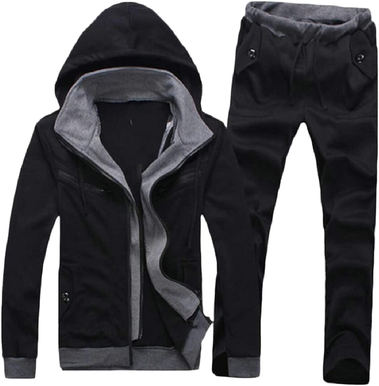LEISHOP Mens Tracksuit Athletic Full Zip Jogging Sweatsuit Activewear 2 Pieces