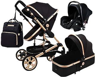 Babyvagn 3 I en Vikbar Barnvagn Transport Luxury barnvagn Shock Absorption Springs High View Barnvagn barnvagn med babykor...