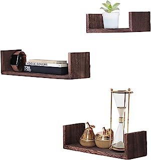 Comfify U-Shaped Floating Shelves - Brown