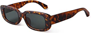 JUDOO Rectangle Sunglasses 90s Vintage Retro Sunglasses UV400 Protection