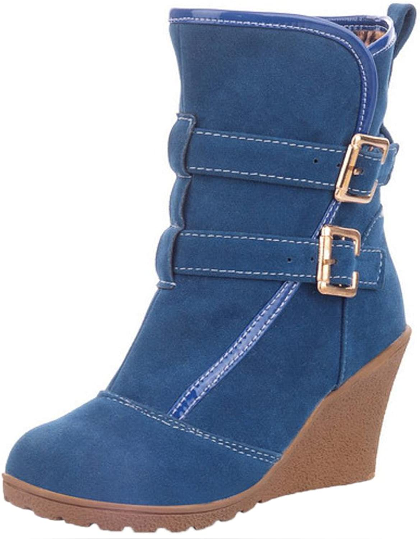 RizaBina Women Winter Boots Wedge Heel