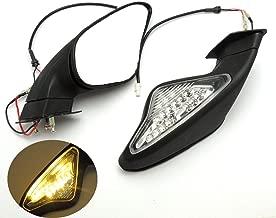 KEMIMOTO Fits Ducati 848 1098 1198 Mirrors 1098S/R 1198R Motorcycle Mirrors LED Turn Signal Blinker