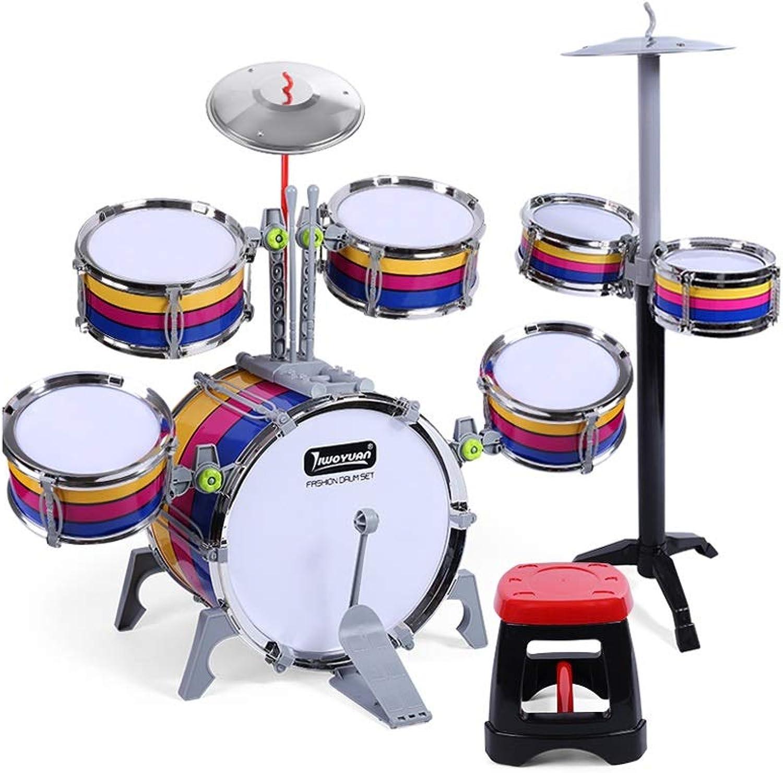 X-CAT Kindertrommeln Jazz Drum Music Lernspielzeug Percussion Frühen Kindheit Schlagen Schlagzeug Streifen (gre   L)
