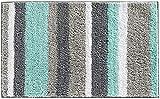 Pauwer Alfombrillas de baño de Microfibra Antideslizante Absorbente Alfombra de Baño Máquina Lavable,Verde, 45x65cm