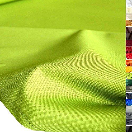 TOLKO Outdoor Stoff - Nylon Planenstoff als Meterware, Wasserdicht, Extra Schwer, Reißfest und Langlebig (Apfel-Grün)