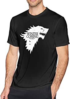 CharmKAT Men Targaryen Game of Thrones Cotton Polo Shirt Custom Tees Black
