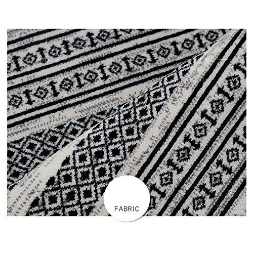 DEI QI Moquette Noire et Blanche Nordique en Forme de Losange Motif géométrique en Forme de Losange, Salon canapé Chambre Chevet rectangulaire Tapis (Couleur : Black)