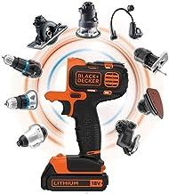 BLACK+DECKER MT218KB-QW - Taladro atornillador Multievo 18V, con cabezal adaptado a multiherramientas