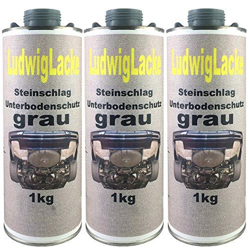 3 x 1 kg Unterbodenschutz grau Steinschlagschutz überlackierbar mit Autolack