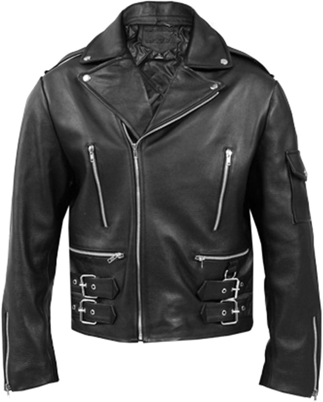 Zouqfashion Brando Mens Terminator Biker Leather Jackets