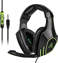 $25 » Sponsored Ad - SUPSOO Gaming Headset Headphones for PS4 Xbox One Controller, Over Ear Headphones Noise Cancelling Mic, Adj...