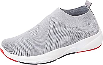 Sherostore ♡ Women's Slip-On Sneakers Mesh Loafer Casual Walking Shoes Ultra Lightweight Breathable Knitted Socks Shoes