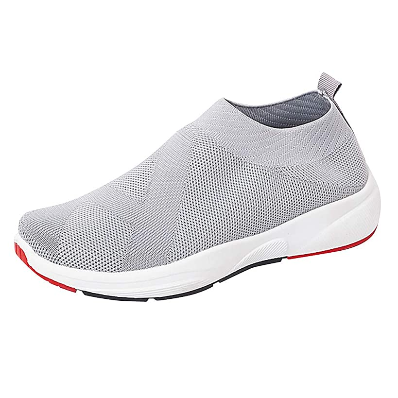 Sherostore ? Women's Slip-On Sneakers Mesh Loafer Casual Walking Shoes Ultra Lightweight Breathable Knitted Socks Shoes