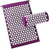 EZONEDEAL Acupressure Mat and Pillow Set - Ideal for Back Pain Relief