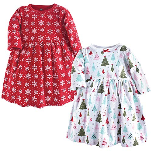 Hudson Baby Girl's Cotton Dresses, Sparkle Trees, 18-24 Months
