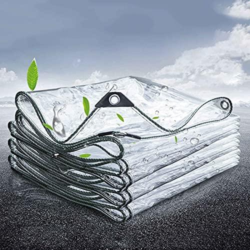 WLVG Lona Transparente Lona Impermeable Lona Resistente de PVC Lona Resistente al Polvo Lona Impermeable Lona Transparente Lona Impermeable, Múltiple (Tamaño: 1X1.5m = 3.3X4.9ft)