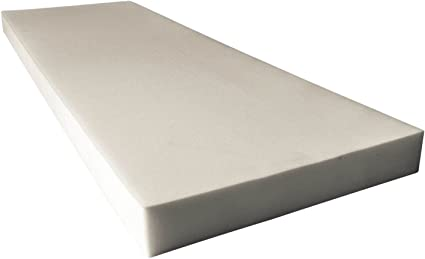AK TRADING CO - White Upholstery Sheet Foam Padding CertiPUR-US Certified Seat Replacement, Foam Cushion, Upholstery Sheet 4 H X 36 W X 72 L