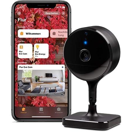 Eve Cam Smarte Innenkamera 1080p Auflösung Wlan 100 Privatsphäre Homekit Secure Video Mitteilung Auf Iphone Bewegungsmelder Mikro Speaker Nachtsicht Flexible Installation Homekit Baumarkt