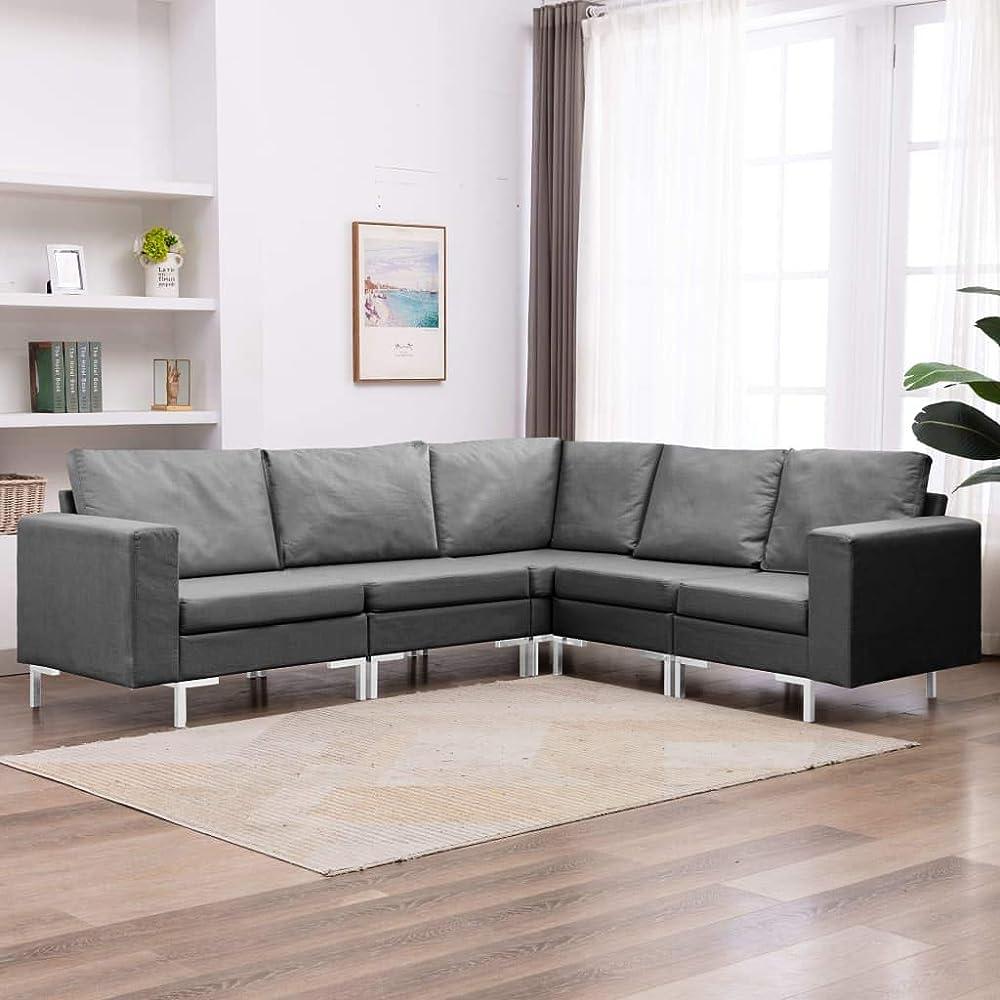 Festnight 5 pz set di divani modulari angolari   in tessuto CPX1192979018310WS