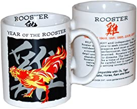 Goldenwave Creations Asian Oriental Chinese Zodiac Coffee & Tea Mug Year of The Rooster: Birth Years 1933, 45, 57, 69, 81, 93, 05, 2017