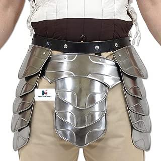 Medieval Middle Age Knights Tasset Battle Armor Plated Steel Waist Fauld Belt (Medium)
