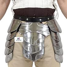 Hung Middle Age Knights Tasset Battle Armor Plated Steel Waist Fauld Belt