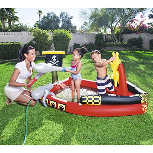 Aufblasbarer Piratenschiff Pool für Kinder, aufblasbare Familie Außenpool für Babys und Kleinkinder, für Kinder über 3 Jahre alt, 190 * 140 * 96CM