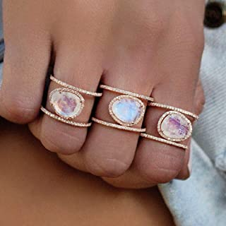 rose gold and moonstone