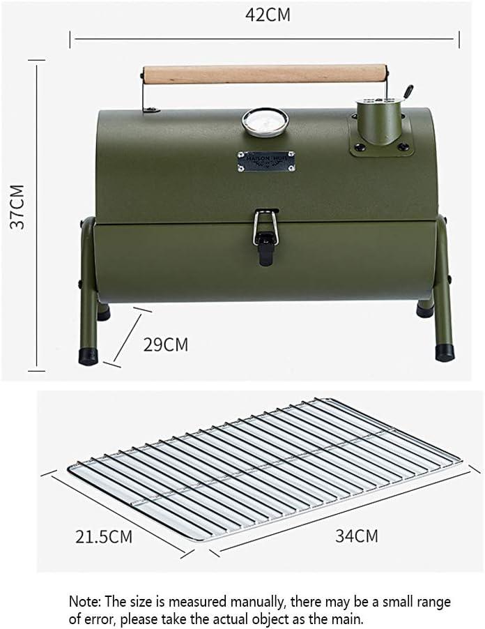 KangHan Portable Barbecue Extérieur Poêle Maison Charbon De Bois Intérieur Ensemble Complet D'outils Petites Brochettes De Barbecue en Plein Air Grill Carbone Épaissi Red