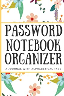 Password Notebook Organizer: A Journal With Alphabetical Tabs