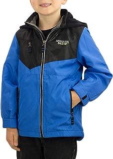 London Fog Kids Boy's Fleece Lined Hooded Jacket Blue/Black