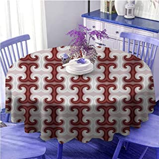 Psychedelic Indoor Round Tablecloth Kitchen Dinning Tabletop Decoration Home Round Tablecloth Indoor or Outdoor Parties (70 Inch, Red)