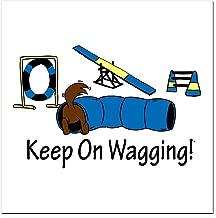 CafePress - Agility Dog Brown Square Car Magnet 3