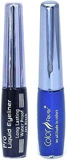 Color Fever Waterproof Eye Liner, Royal Blue and Black, 13.6g (Packof 2)