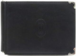 [カルティエ] Cartier マスト ドゥ カルティエ マネークリップ付き 財布 札入れ メンズ レザー ブラック ボルドー L3000646 [中古]