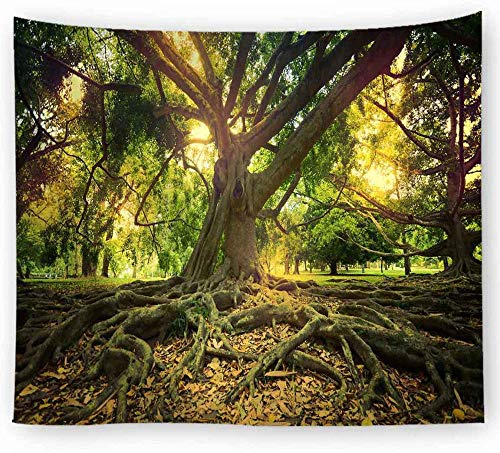 ZYLSZBD Tapestry The Tapestry Wall Hanging Tapestries Home DecorDecorative cloth forest print-Picture 3_150X100cm
