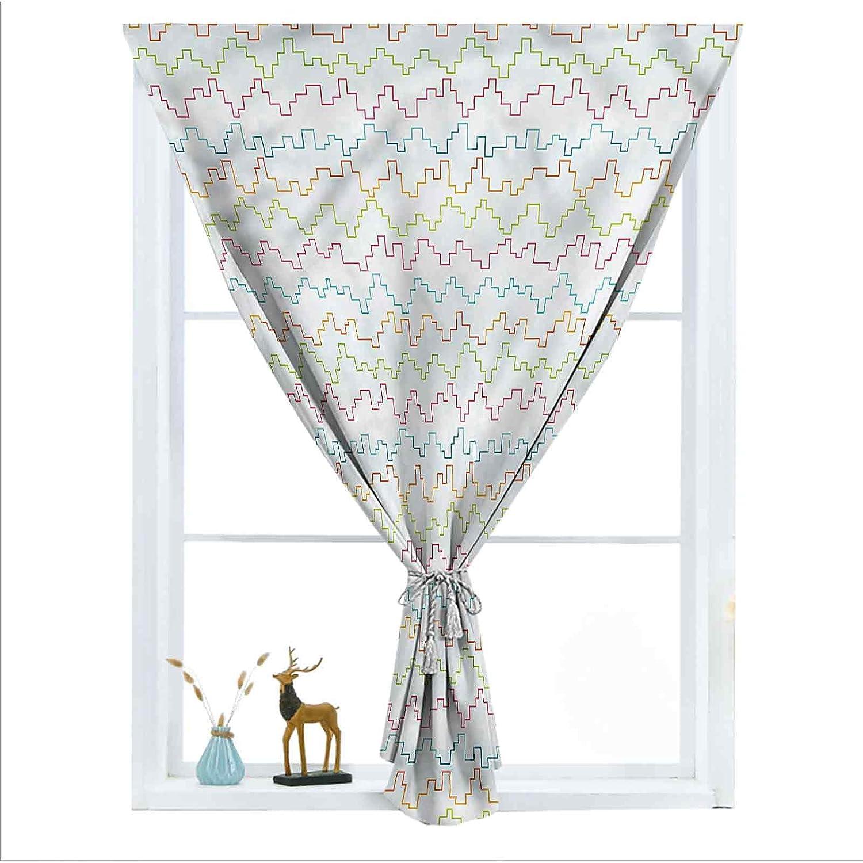ousente Chevron Decorative overseas Room Urban Darkening Fresno Mall Small Curtains