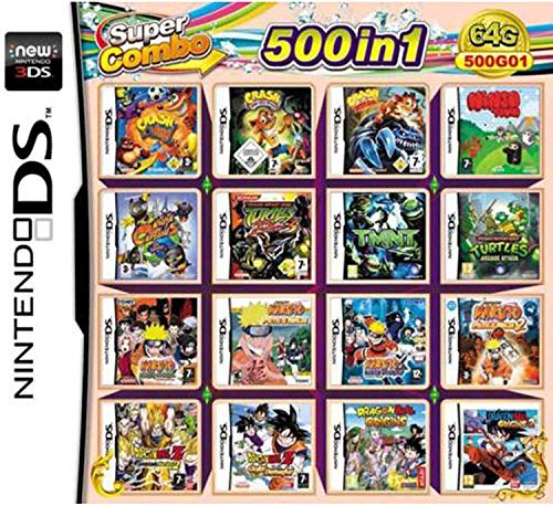 CMLegend 500 Games in 1 NDS Game Pack Carta Super Combo Cartuccia per DS New 3DS LL/XL