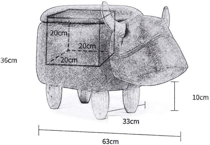 YUMUO Animal Repose-Pieds Rangement Pouf Repose-Pied Tabouret Coussin Rembourré Repose-Pied Pouf Tabouret pour Enfants ou Adultes F01010 (Couleur: Blanc Vache) 1