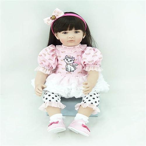 Fachel reborn baby doll baby - puppen realistisch vinyl silikon babys 5cm 22inch sch s kleid puppe kindergeburtstag geschenk Weißachtsgeschenk
