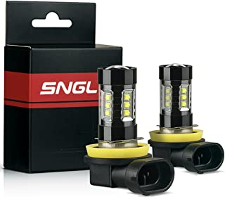 SNGL H11 (H8) Super Bright CREE LED DRL Fog Light bulbs - Plug-and-Play - 6000K Cool White (Pack of 2)