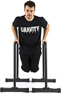 Gravity Fitness XL Pro Parallettes 2.0 – New 38mm Handles – Dip Bars –..