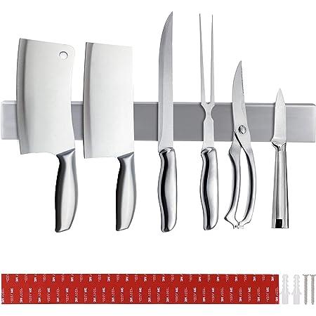 DIDUDE Porte Couteau Magnetique, Barre à Couteaux Aimantée 40cm,Acier INOX Porte-Couteaux Magnétique pour Support Ustensiles de Cuisine et Outils