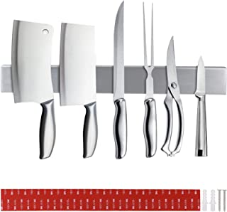DIDUDE Porte Couteau Magnetique, Barre à Couteaux Aimantée 40cm,Acier INOX Porte-Couteaux Magnétique pour Support Ustensil...