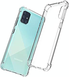 Protective Transparent Clear Case Shockproof Back Cover For Samsung Galaxy A71, Clear