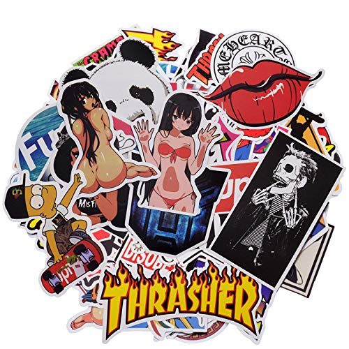 100 PCS Not Repeat Graffiti Sticker Label Fashion Label Art Car Board Waterproof Random Stickers