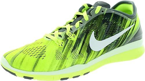 Nike WMNS Nke Free 5.0 Tr Fit 5 PRT - cool grau Weiß-Volt-Weiß