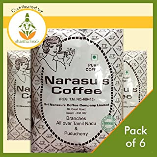 Narasu's Coffee Powder (Peaberry) - Pack of 6 (Each 500 Gms) T-M