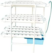 LAPOND Hydroponic Grow Kit,3 Layers 108 Plant Sites PVC Pipe Hydroponics 12 Pipes Hydroponics Growing System Water Culture Garden Plant System for Leafy Vegetables